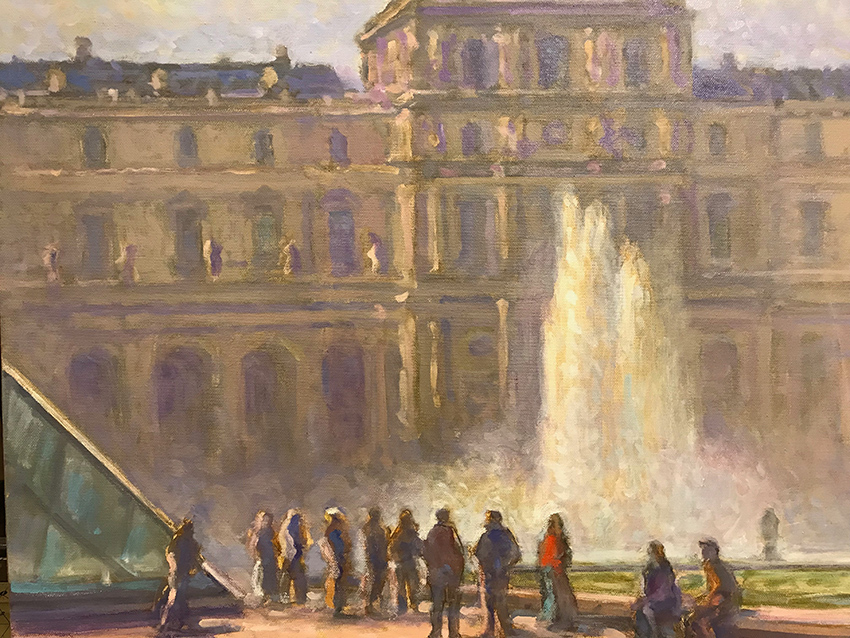 La fontaine du Louvre, pavillon Sully