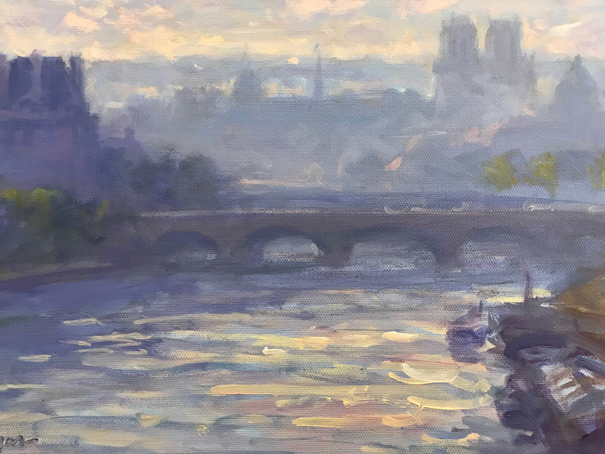 La Seine, le pont royal